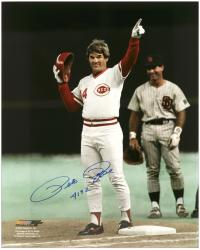 "Pete Rose Cincinnati Reds Autographed 16"" x 20"" Photograph with ""4192"" Inscription"
