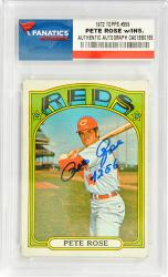 Pete Rose Cincinnati Reds Autographed 1972 Topps #559 Card with 4256 Inscription - Mounted Memories
