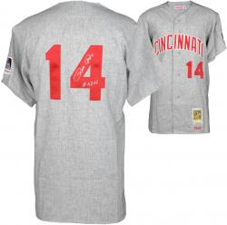 Pete Rose Cincinnati Reds Autographed 1969 Mitchell & Ness Gray Jersey with 4256 Inscription