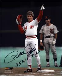 "Pete Rose Cincinnati Reds 4192 Autographed 8"" x 10"" Photograph with 75 WS MVP Inscription"