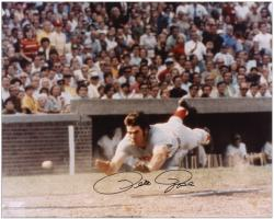"Pete Rose Cincinnati Reds Autographed 16"" x 20"" Head First Slide Photograph"