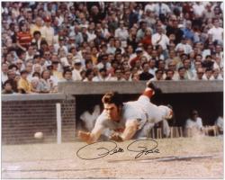 "Pete Rose Cincinnati Reds Autographed 16"" x 20"" Head First Slide Photograph"