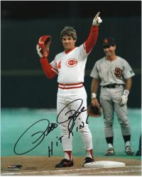"Pete Rose Cincinnati Reds Record Breaking 4192 Hit Autographed 8"" x 10"" Photograph with Hit King Inscription"