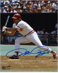 """Pete Rose Cincinnati Reds Autographed 8"""" x 10"""" Swing Photograph"""