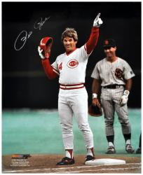"Pete Rose Cincinnati Reds Autographed 16"" x 20"" Pointing Photograph"