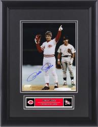 Pete Rose Cincinnati Reds Framed Autographed 8'' x 10'' 4192 Photograph