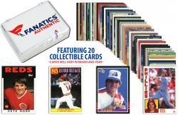 Pete Rose-Cincinnati Reds-Collectible Lot of 20 MLB Trading Cards - Mounted Memories  - Mounted Memories