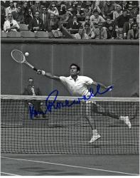 Ken Rosewall Autographed 8'' x 10'' B&W Outstretched Photograph