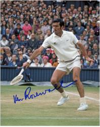 Ken Rosewall Signed Photo - COLOR)(1 HANDED BACKHAND 8x10 Mounted Memories