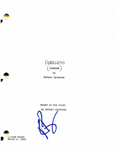 Rosie Perez Signed Autograph - Fearless Movie Script - Jeff Bridges, Tom Hulce