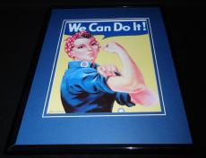 Rosie the Riveter We Can Do It Framed 8x10 Photo Poster