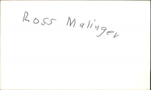 """ROSS MALINGER SEINFELD Signed 3""""x5"""" Index Card"""
