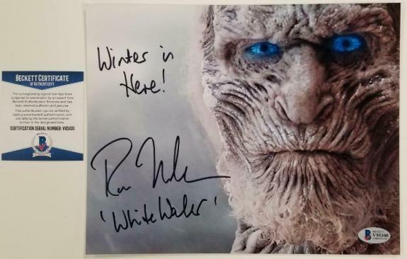 Ross Mullan signed Game Of Thrones 8x10 Photo + Inscription #2 ~ Beckett BAS COA