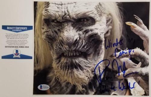 Ross Mullan signed Game Of Thrones 8x10 Photo + Inscription #4 ~ Beckett BAS COA