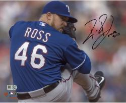 Robbie Ross Texas Rangers Autographed 8'' x 10'' Pitching Blue Jersey Photograph - Mounted Memories