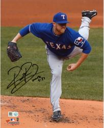 Robbie Ross Texas Rangers Autographed 8'' x 10'' Pitching Kick Photograph