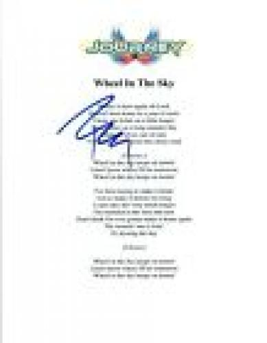 Ross Valory Signed Autograph Journey WHEEL IN THE SKY Lyric Sheet COA