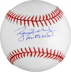 Rawlings Roy Halladay Autographed Baseball with ''NLDS NH'' Inscription - Mounted Memories