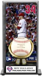 Roy Halladay Philadelphia Phillies Baseball Display Case with Gold Glove & Plate - Mounted Memories