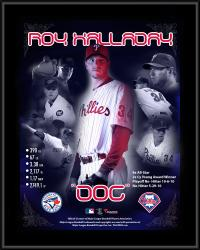 Roy Halladay Philadelphia Phillies Retirement Sublimated 10.5'' x 13'' Plaque - Mounted Memories
