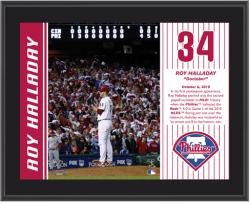 "Roy Halladay Philadelphia Phillies Doctober No-Hitter Sublimated 10"" x 13"" Plaque - Mounted Memories"