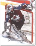 Patrick Roy Colorado Avalanche Autographed 16'' x 20'' Photo - - Mounted Memories