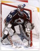 Colorado Avalanche Patrick Roy Autographed 16'' x 20'' Photo -- - Mounted Memories