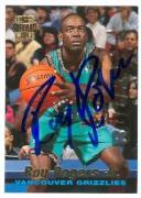 Roy Rogers autographed Basketball Card (Vancouver Grizzlies) 1996 Topps Stadium Club #R19
