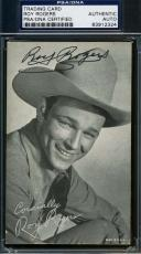 Roy Rogers Hand Signed Psa/dna Photo Exhibit Card Authenticated Autograph