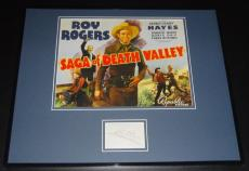 Roy Rogers Autographed Photo - Framed 16x20 Poster Display Saga of Death Valley B