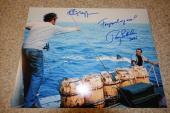 Roy Scheider & Richard Dreyfuss Signed Autographed Jaws Photo Foreground My Ass!