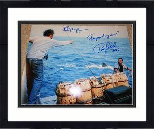 ROY SCHEIDER & RICHARD DREYFUSS SIGNED 11x14 JAWS PHOTO FOREGROUND MY ASS!