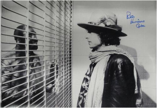 Rubin Hurricane Carter Signed Autographed Huge 24x36 Photo with Bob Dylan + COA