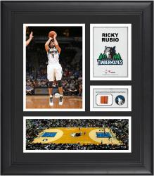 "Ricky Rubio Minnesota Timberwolves Framed 15"" x 17"" Collage with Team-Used Ball"
