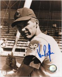 "Ken Rudolph Chicago Cubs Autographed 8"" x 10"" Black & White Photograph"