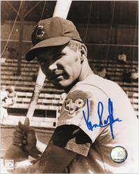"""Ken Rudolph Chicago Cubs Autographed 8"""" x 10"""" Black & White Photograph"""