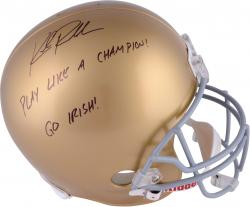 Kyle Rudolph Notre Dame Fighting Irish Autographed Riddell Replica Helmet with Multiple Inscriptions - Mounted Memories  - Mounted Memories