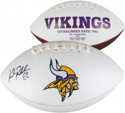Kyle Rudolph Minnesota Vikings Autographed White Panel Football - Mounted Memories