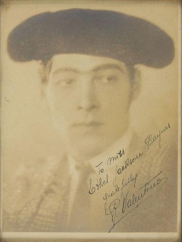 Rudolph Valentino, Classic 7 x 9 Portrait Of The 1920's Sex Symbol. JSA Letter!