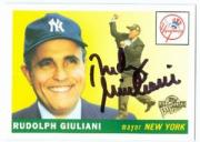 Rudy Giuliani autographed baseball card (New York Yankees) 2004 Topps Fan Favorites #51
