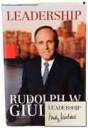 Rudy Giuliani Autographed Leadership Book - Beckett COA