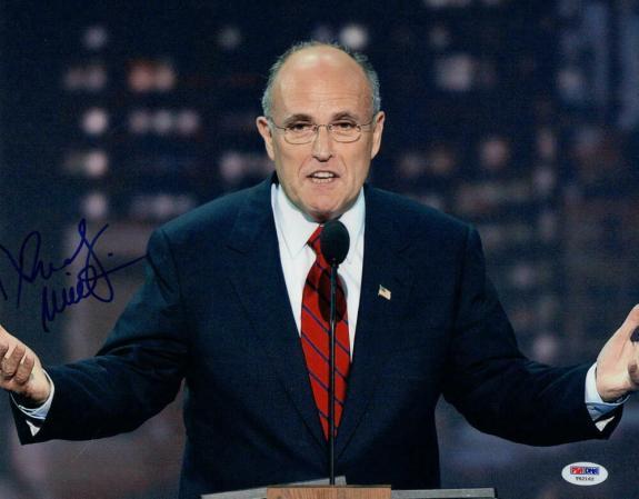 Rudy Giuliani Signed Autograph 11x14 Photo - Donald Trump Lawyer, Nyc Mayor  Psa