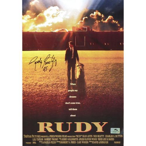 Rudy Ruettiger Autographed Rudy (Notre Dame Movie) 11″x17″ Mini Movie Poster