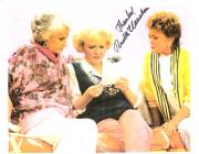 "RUE MCCLANAHAN ""THE GOLDEN GIRLS"" as BLANCHE Signed 11x8.5 Color Paper Thin"