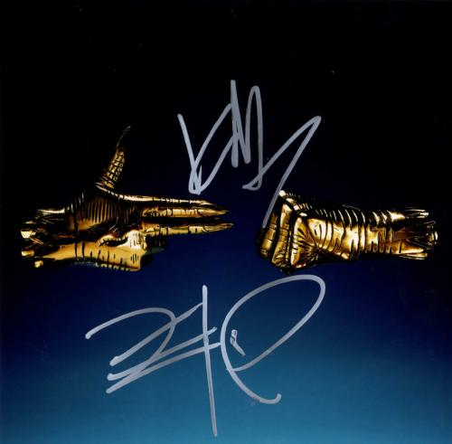 Run The Jewels 3 Killer Mike El-P Signed Album Lp Flat Photo AFTAL UACC RD COA