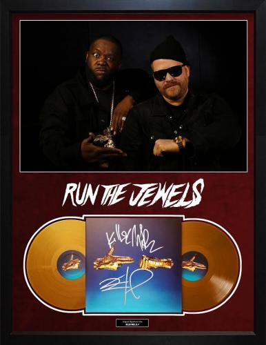 Run The Jewels Autographed Signed Album Cover Custom Display AFTAL UACC RD COA