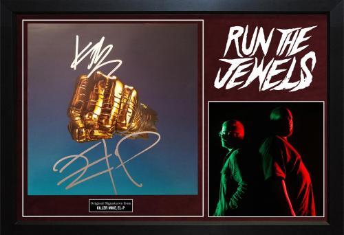 Run The Jewels Killer Mike El-P Signed Album Cover Custom Display AFTAL UACC RD