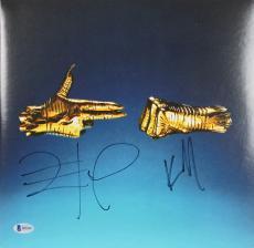 Run The Jewels Mike Killer & El-P Signed Album Cover W/ Vinyl BAS #B51810