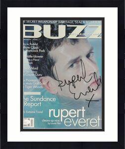 Rupert Everett Autographed Buzz Magazine Cleans Up Nice  JSA 53592