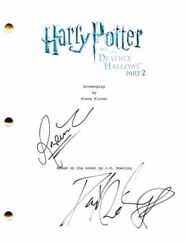 Rupert Grint Daniel Radcliffe Signed Autograph Harry Potter Full Movie Script 2